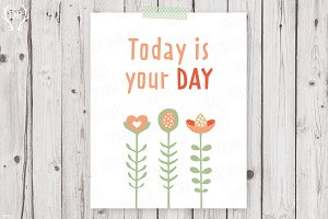 Today is your day nursery decor art