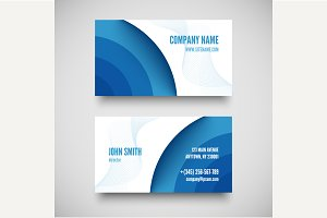 3D blue creative business card