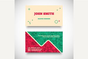 Vector vintage business card set