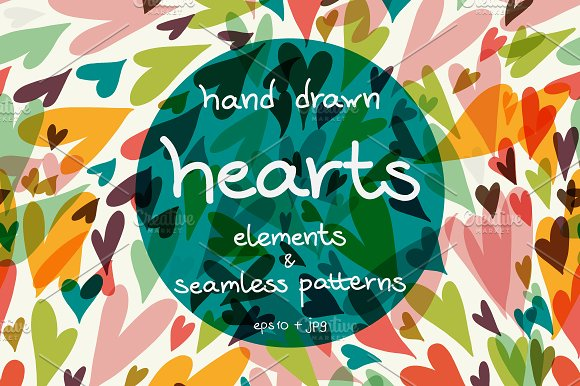 Hearts. Patterns and cards. - Patterns