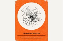 Abstract Retro Geometric Background.