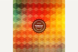 Geometric vintage background