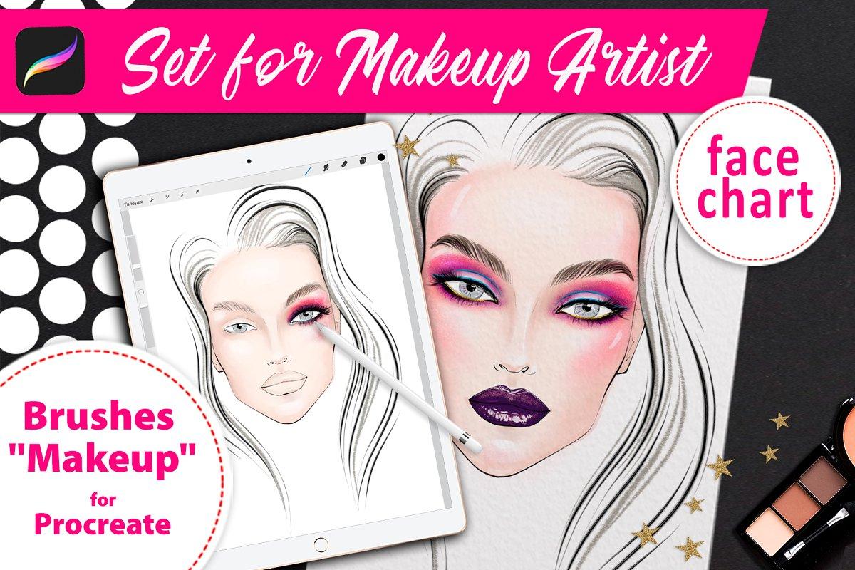 Set for makeup artists.