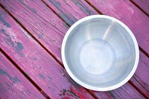 Pet's dog steel metal glossy bowl