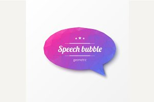Abstract design. Speech bubble