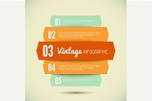 3D Vintage template for infographic