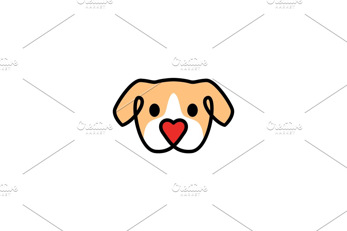 save  dog with love shape nose