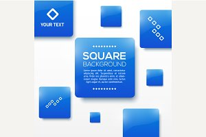 Vector Design Squares Concept