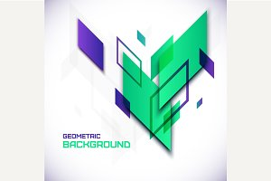 Geometric 3D abstract background