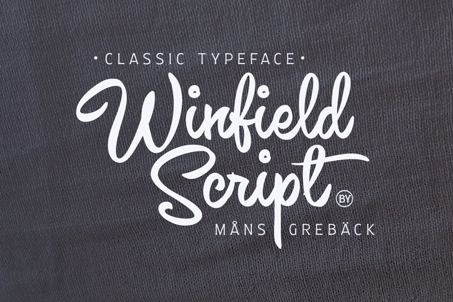 Winfield Script - Classic Typeface