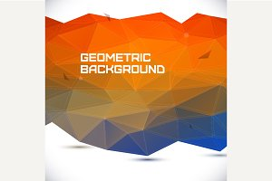 Abstract 3D geometric background