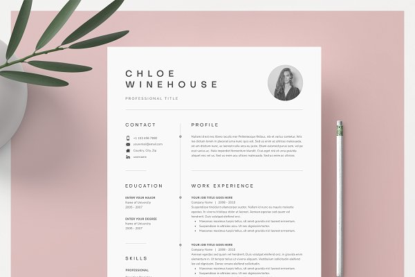 Word Resume Cover Letter Template Creative Cover Letter Templates Creative Market