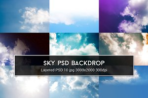 Sky PSD Backdrop