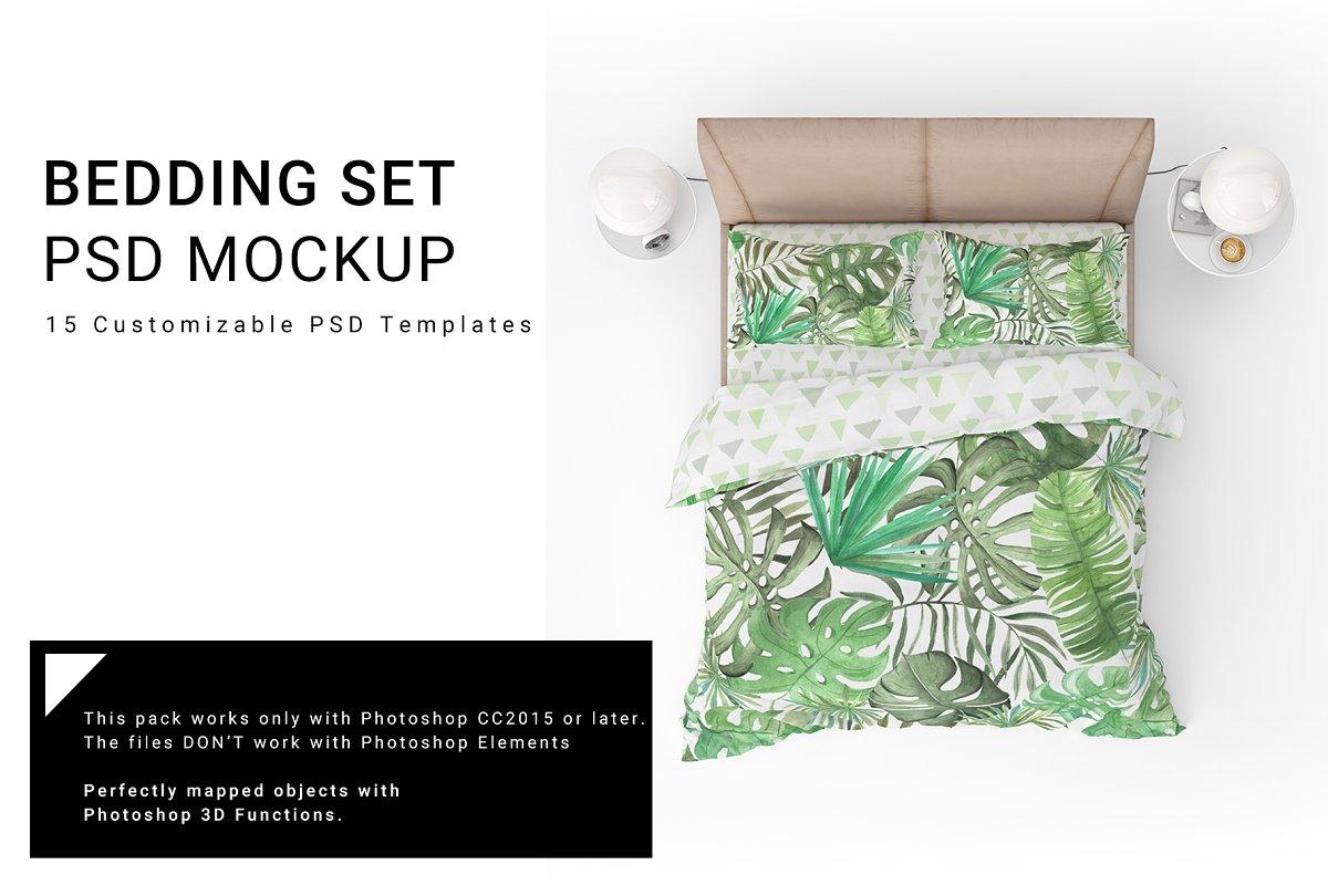 Bed Linen Mockup Set ~ Product Mockups ~ Creative Market