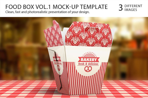 Food Box Vol.1 Mock-up Template - Product Mockups