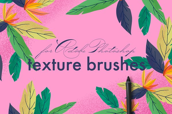 Texture brushes for Adobe Photoshop