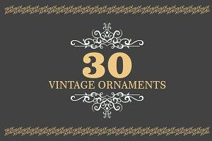 30 Vintage Ornaments