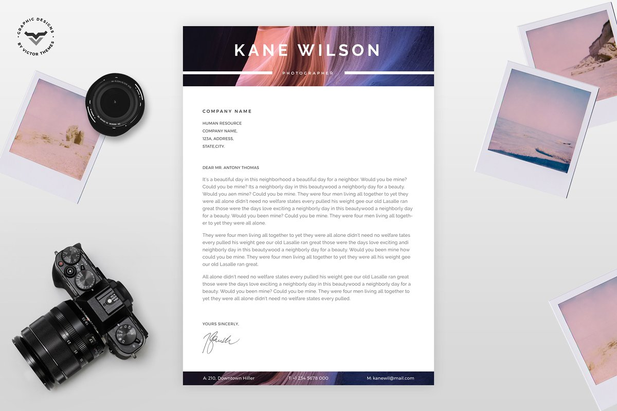 Photographer CV Template ~ Resume Templates ~ Creative Market
