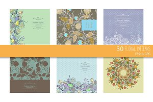 30 beautiful floral patterns
