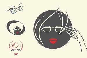 4 logos for optical salon