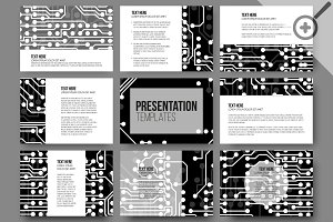 Set of 45 templates for presentation