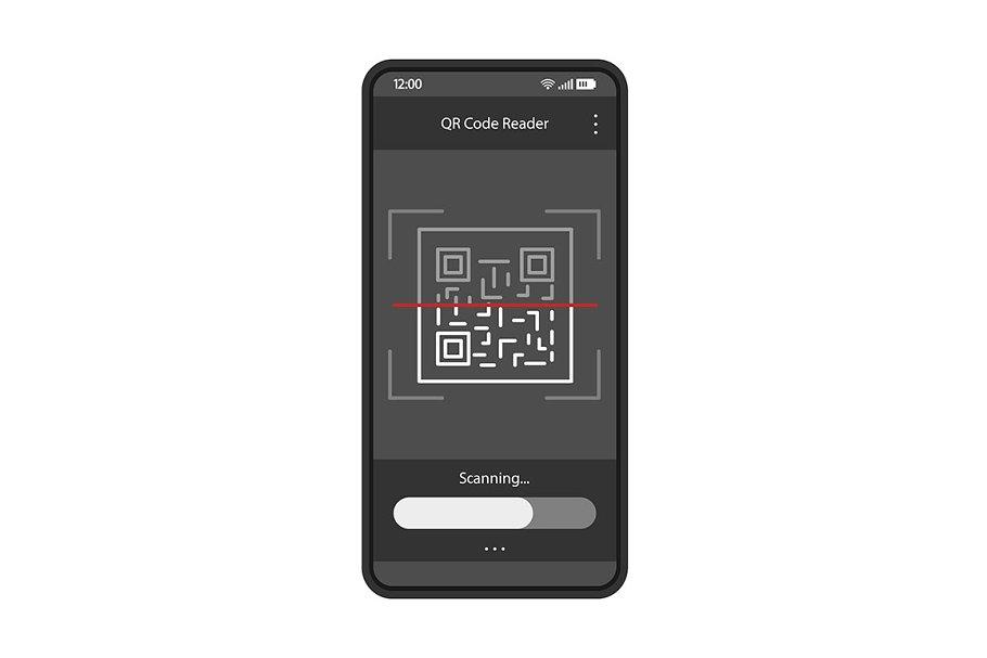 QR code scanning app interface