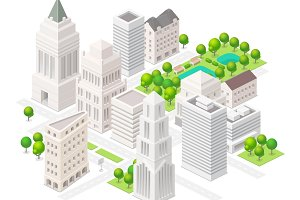 Isometric big city