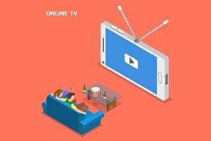 Online TV concept