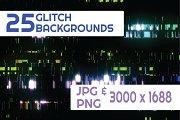 25 Glitch Backgrounds Vol 1