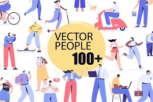 Big Vector set of people characters