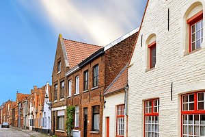 medieval archtecture of Bruges
