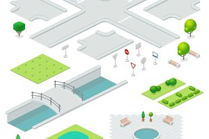 Isometric city elements