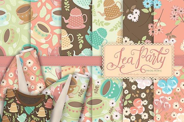 Tea Party 01 - Seamless Patterns