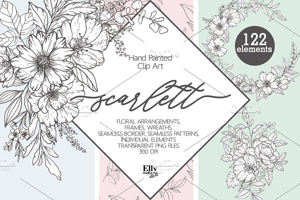 Modern Floral Graphic Collection
