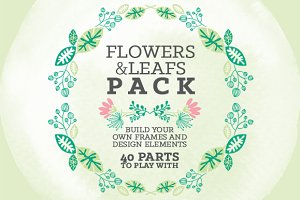 Flowers & Leafs Pack