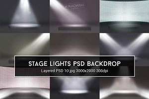 Stage Lights PSD Backdrop