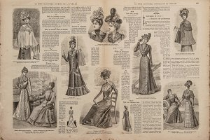 Antique fashion magazine