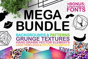 BACKGROUNDS + BONUS FONTS (60% OFF)