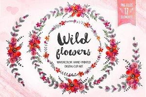 Wild flowers - Floral clip art