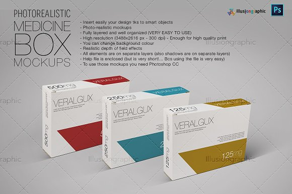 Download Photorealistic Medicine Box Mockups Free Download Psd