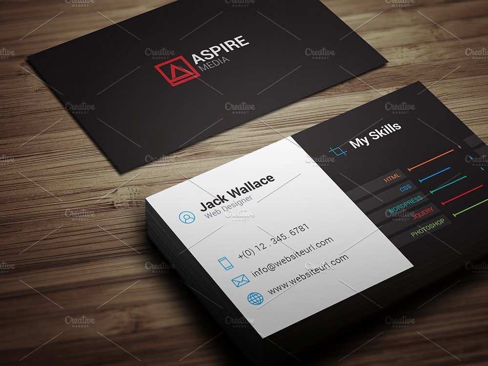 Skills Business Card - Freelancer - Business Card Templates ...