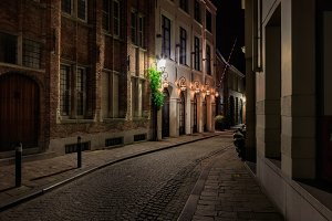 Night view of Bruges