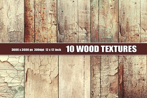 Distressed painted wood texture