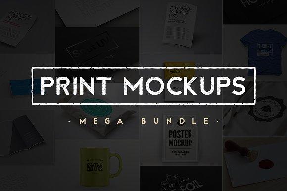 Download Print & Object Mockups Bundle