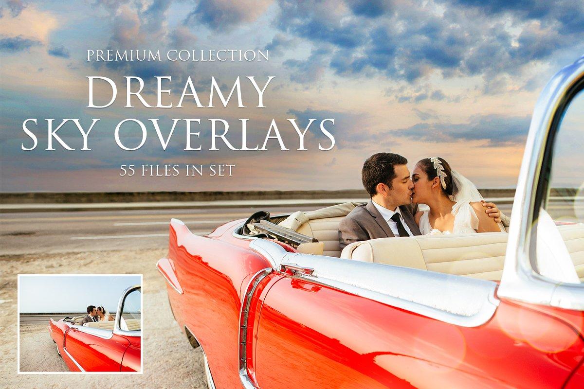 Dreamy Sky Photoshop Overlays