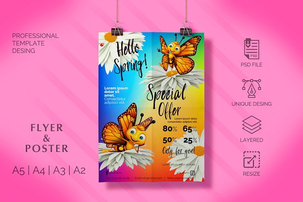 Flyer & Poster - Butterfly