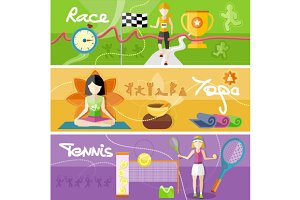 Race, yoga and tennis