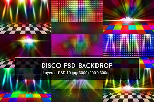 Disco PSD Backdrop