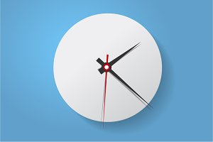 Clock face. Flat. Set up your time