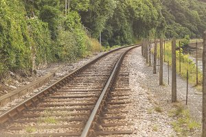 Single railway track